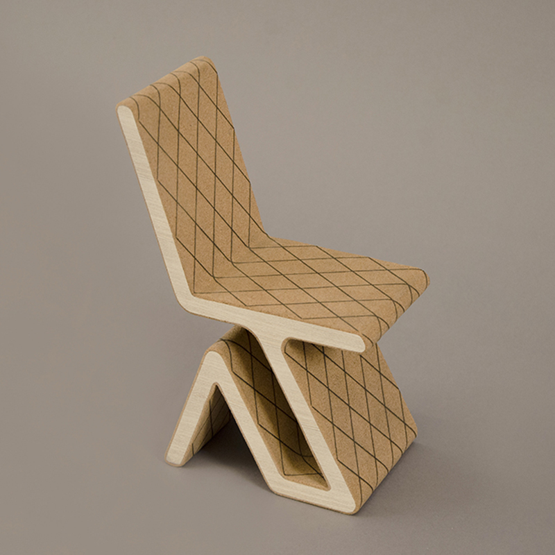 Prototipo sedia in legno